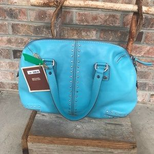 Michael Kors Turquoise Studded Bag - New With Tag